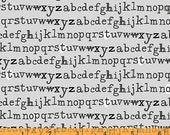 Type - Alphabet Grey by Julia Rothman from Windham Fabrics