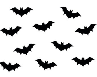 10 x iron picture iron-on patches of patch patch Miniblings 35 mm SMOOTH bat vampire - all color