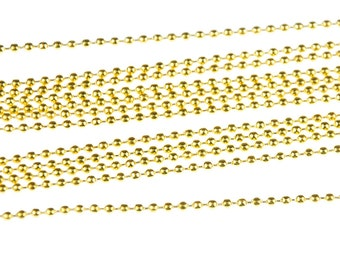 12 x 2, 4 mm necklace chain 80cm gold plated chains