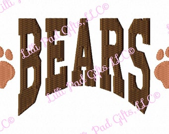 BEARS - Paw Prints - Applique - Machine Embroidery Design - 13 sizes