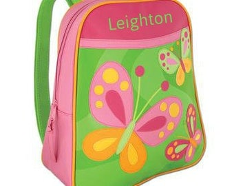 Personalized Backpack Stephen Joseph GoGo Bag Butterfly