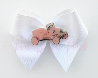 Pink Pedal Car Hair Bow