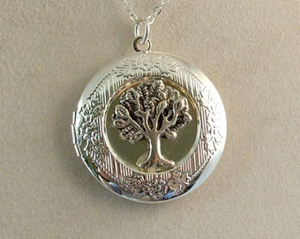 Picture Locket - Silver Tree of Life