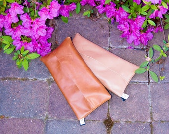 Reclaimed Leather baby wipe/ Diaper covers