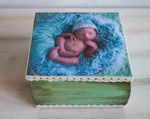 Custom Photo Memory Box Custom Baby Keepsake Box Personalized Photo Keepsake Box Personalized Baby Memory Box Personalized Photo Box