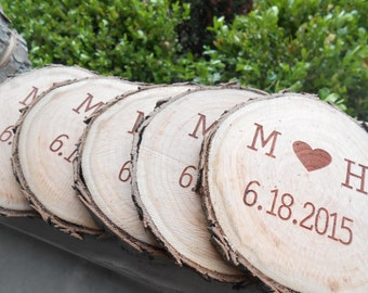 Personalized Wedding Coasters. CHOOSE YOUR WORDS & Font. Groomsmen Gift, Groom, Best Man. Rustic Favor, His Hers, Bride Groom Sign