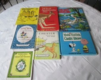 Vintage children's books 7 Maurice Sendak The Camel Who Took A Walk Richard Scarry The Ugly Ducking Shultz Chester Little Bear vintage books