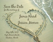 20 Save the Date in the Sandy Beach Magnets Personalized for Krystal