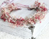 tie back baby breath wreath,flower girl crown