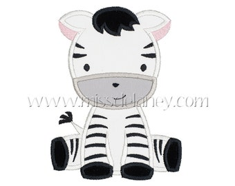 Zebra Applique Design