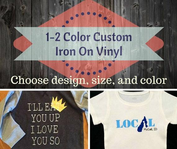 Custom Vinyl Iron OnCreate ShirtsVinyl TransferCustom - Custom vinyl decals for tee shirts