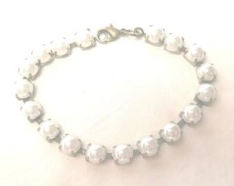 Bracelet, Pearl and Gold Bracelet,Bridal Jewlery,Bridal Bracelet,Prom Bracelet,Prom Jewelry,Pearl Bracelet,Bracelet for Brides by Cindydidit