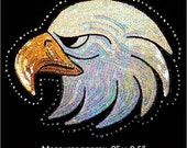 Eagle head Sequins and Rhinestone Transfer Applique ONLY