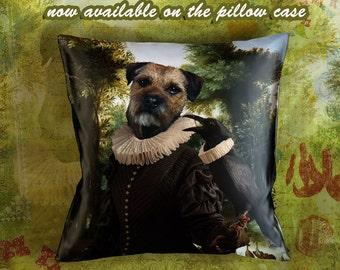 Dog Pillow - Border Terrier Pillow Case - Border Terrier Pillow Cover - Dog Pillow Cover - Border Terrier Gifts -Border Terrier
