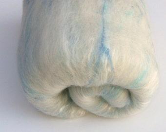 Spinning Fiber Batt - LITTLE BOY BLUE - Lightly Textured and Sparkly Spinning and Felting Batt 2.9 oz