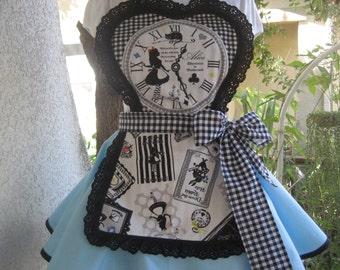 Alice in Wonderland Retro Womens Apron