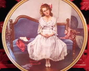 """Norman Rockwell Collectors Plate """"Waiting for the Dance"""" 1993"""