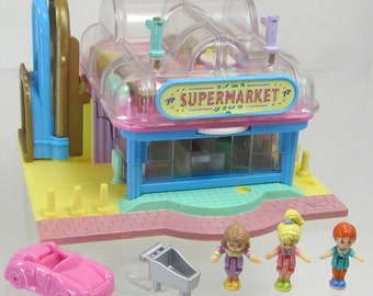 1995 Vintage Polly Pocket Light-up Supermarket Bluebird Toys (38672)