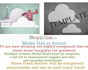 Medium cloud shelf template