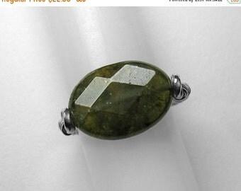 Green Grossular Garnet Ring