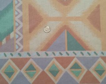 Vintage Southwestern Queen Flat Sheet Bedding Fabric Supplies