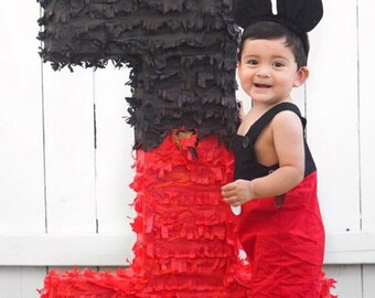Mickey Mouse First Birthday Outfit Jon Jon Romper Shorts