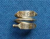 """Viking Rune Ring """"Fa Atu"""" (money to me!)"""