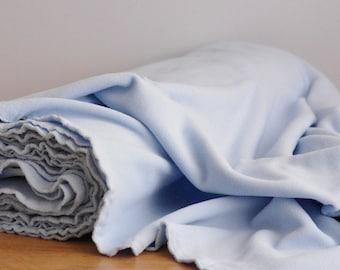 Light blue polar fleece fabric by the yard