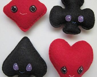 Kawaii Suits Mini Plushies Set Of Four