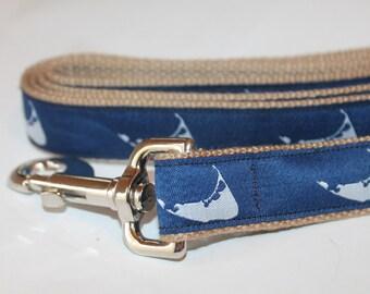 Nantucket Dog Collar Nautical Pet Collar East Coast Dog Collar and Leash Large Dog Collar Small Dog Collar Cape Cod Dog Collar