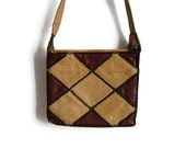 Geometric Bag Crossbody Bag Women Brown Bag Vintage Beige Bag Womens Bag Imitation Leather Bag Faux Leather Bag Vintage Handbag Shoulder Bag