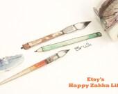 Different Kinds of Pen - Fetishism Series - Japanese Washi Masking Tape - 30mm Wide - 7.6 yards