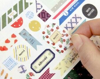 PETIT DECO VER. 5 - Paper Deco Sticker Set - 4 Designs - 8 Sheets