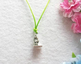 10 Minimalist Microscope Necklaces Party Favors