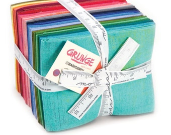 Moda Multi-Colored Grunge Fat Quarter Bundle - 30 Fat Quarters