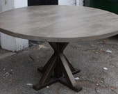 Custom metal  X base Dining Table