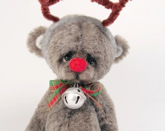 Collectible teddy bear Timh 16,5 cm/ 6,4 ''. Artist Bear OOAK