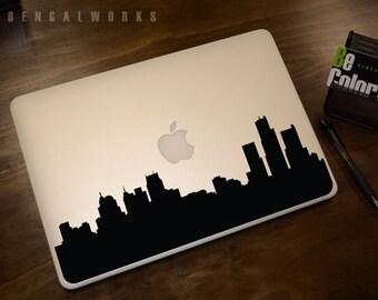 Detroit Skyline Macbook Decal 1   Macbook Sticker   Laptop Decal   Laptop Sticker   Car Sticker