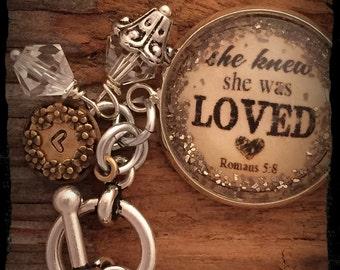Loved German Glitter Bracelet