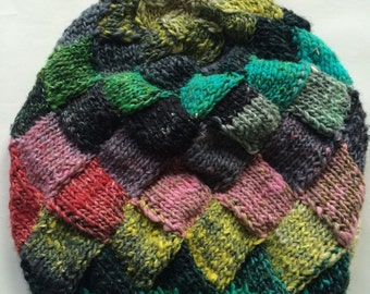 Slouchy Hand knit hat