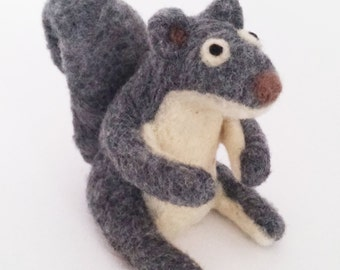 "AdoraWools 5"" toy squirrel * needle felted toy *gift of love *crazy cute"