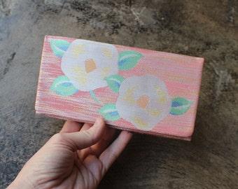Blossom WALLET / Vintage Delicate BILLFOLD / Women's Salmon Accessory