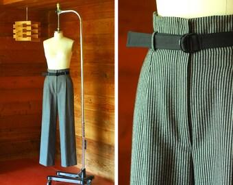 vintage Geoffrey Beene wool wide leg pants / size small medium