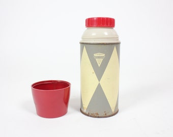 Retro Vintage Red and Grey THERMOS Brand Thermos