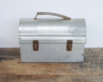 Vintage Aluminum Dome Top Lunch Box