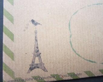 10 envelope / green bird