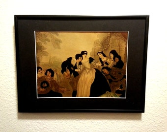 Let's Play a Game Framed Matted Altered Thrift Store Print