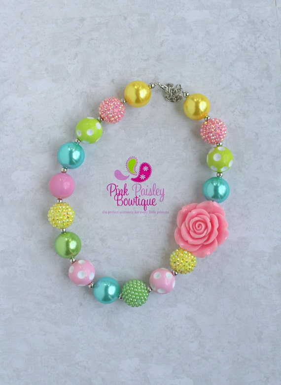 bubblegum bead necklace baby necklace children s