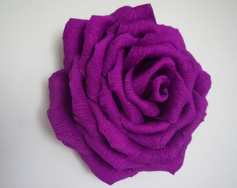 Giant Crepe Paper Rose Wall Wedding Home Decor