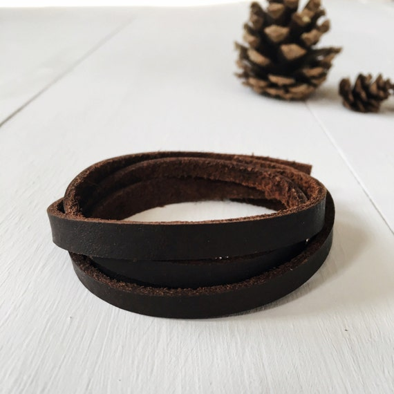 Leather wrap bracelet, unisex leather bracelet, simple wrap bracelet, multistrand bracelet, cuff bracelet, leather cuff